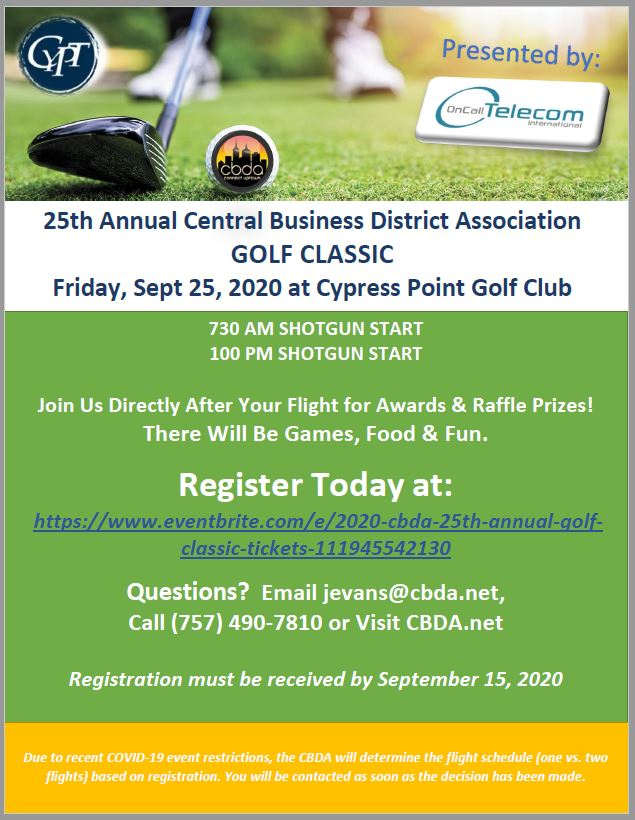 CBDA Annual Golf Tournament - September 25, 2020 at CYPT